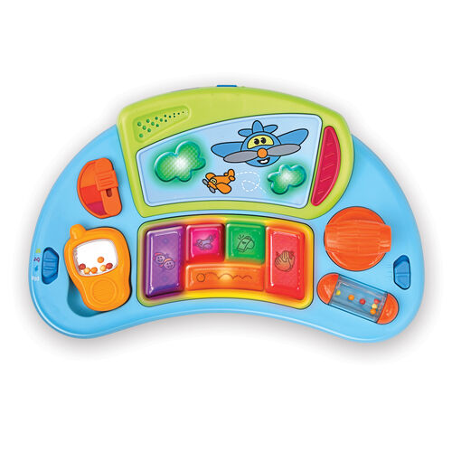 The musical activity tray of the D@nce Walker can be removed and used as a standalone toy