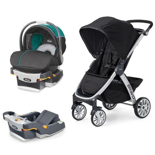 Mix & Match KeyFit 30 Magic Infant Car Seat - Isle + Bravo Stroller Bundle - Free Additional Base in