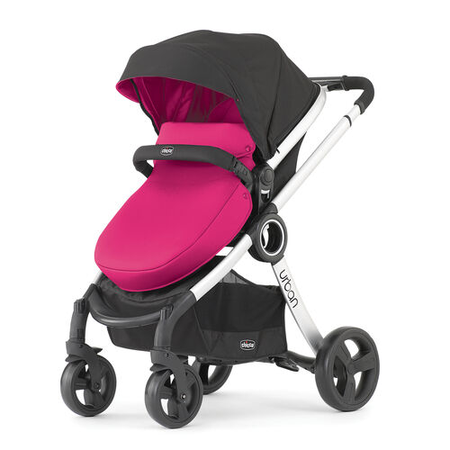Chicco Urban Pink Stroller with Pink Color Pack and Pink Boot