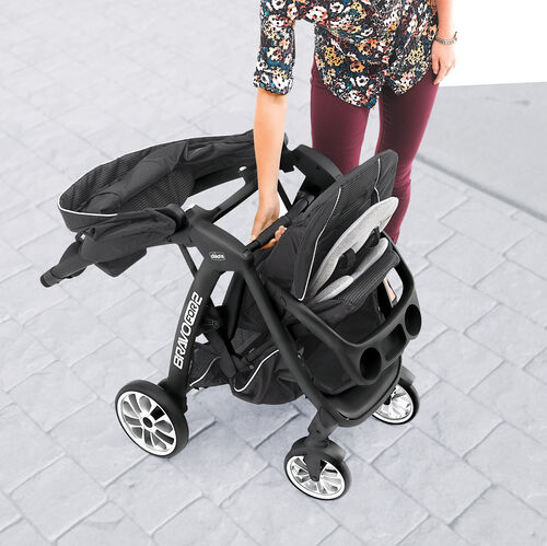 Chicco Chicco Bravofor2 Le 2 Passenger Standing Sitting Quick Fold Stroller Genesis