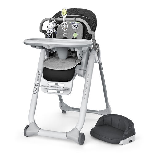The Polly Progress is multi-chair highchair with unique configuration