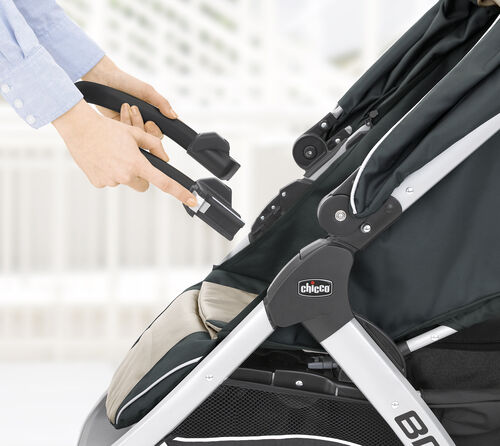 Use the KeyFit adapter bar on your Chicco Bravo stroller to turn your stroller into a travel system with the KeyFit infant car seat