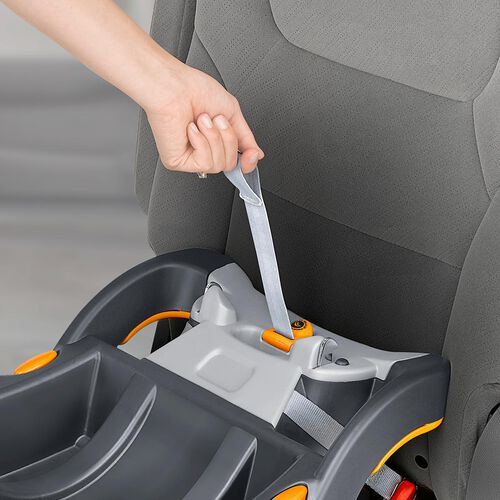 one-pull LATCH tightener uses force-multiplying technology to easily achieve a tight fit for the KeyFit 30 Infant Car Seat