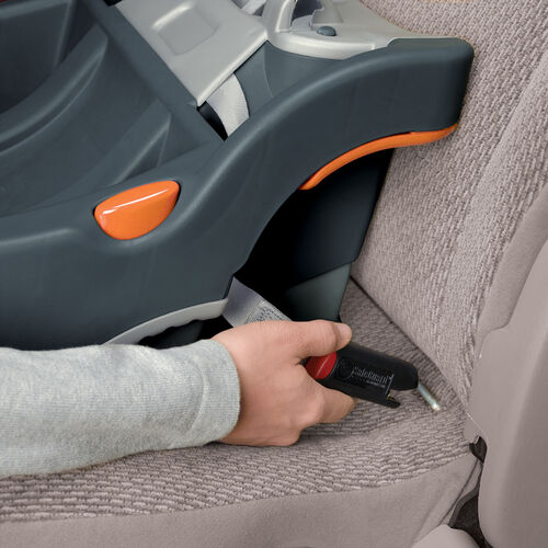 LATCH hooks secure the KeyFit 30 infant car seat base directly to the LATCH anchors on your vehicle