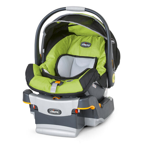 Chicco KeyFit 30 Infant Car Seat in lime green with silver trim Pulse style