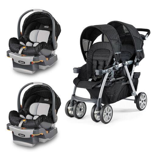 Ombra Cortina Together  Keyfit Infant Car Seats Bundle