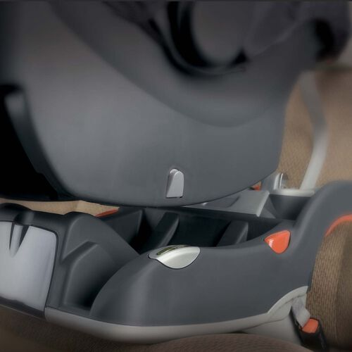 The KeyFit 30 Infant Car Seat locks in to its base with an audible click