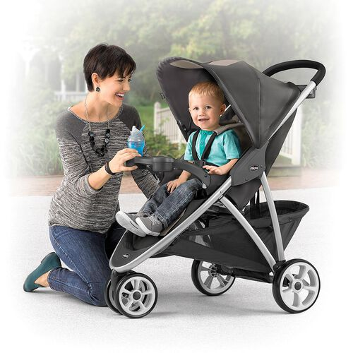 Once your baby grows out of the infant car seat, the Viaro stroller is designed to be the only stroller you'll need, accommodating older children up to 50lbs .