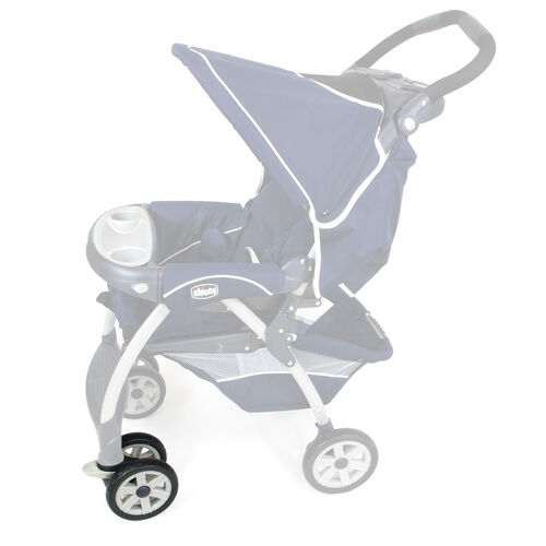Front wheel location on the Chicco Cortina Stroller