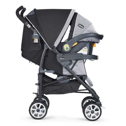 Chicco's KeyFit 30 Infant Car Seat and Nuevo Stroller come together to form a travel system