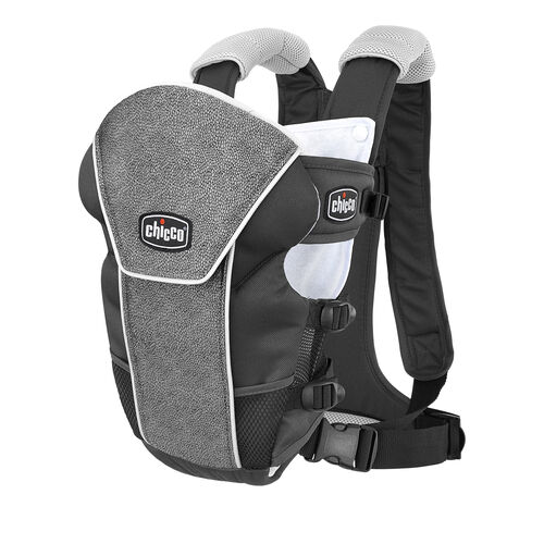 Chicco UltraSoft Limited Edition Infant Carrier in silvery gray charcoal and black Avena