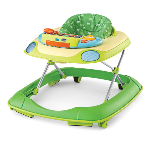 Chicco D@nce Walker in Waterlily style - Multicolored green base with green lily pad fabric print