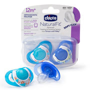Chicco NaturalFit Deco 12M+ Orthodontic Pacifiers - Blue (2 pack)