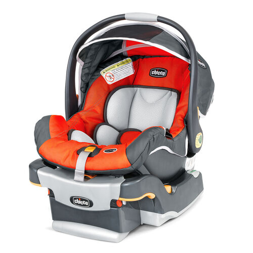 Chicco KeyFit 30 Infant Car Seat and Base in bright hunter orange - Radius style
