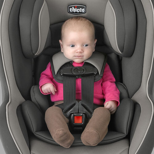 The NextFit Convertible Car Seat grows with your child from 5 to 65 lbs