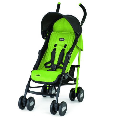 Chicco Echo Stroller in black and bright lime green - Jade