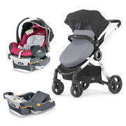 Mix & Match KeyFit 30 Infant Car Seat - Aster + Urban Stroller Bundle - Free Additional Base in