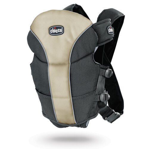 Chicco UltraSoft Baby Carrier in black and tan - Silverspring