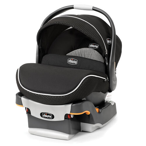 Chicco KeyFit 30 Zip Infant Car Seat and Base in Obsidian black with dimpled black fabric