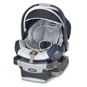 Chicco KeyFit 30 Infant Car Seat and Base in navy blue and light grey Equinox style