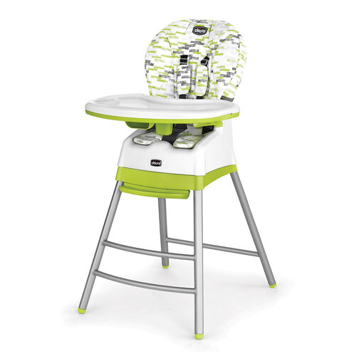 Chicco Stack 3-in-1 Highchair in bright green and gray - Kiwi