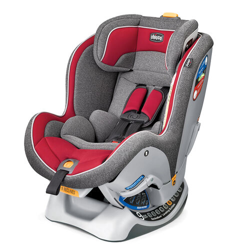 Chicco NextFit Convertible Car Seat pulse - soft gray and red