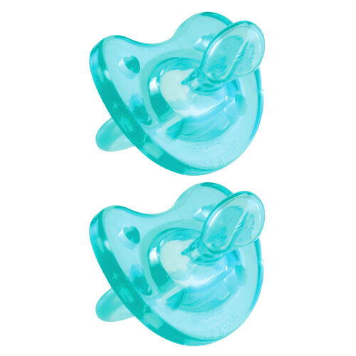 Each NaturalFit 12M+ Soft Silicone Orthodontic Pacifier has a soft, curved ergonomic shield that provides increased comfort for baby