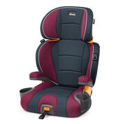 Chicco KidFit 2-in-1 Belt Positioning Booster Car Seat in dark gray and maroon - Amethyst
