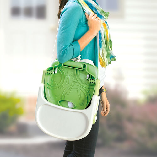 Take Pocket Snack Booster Chairs with you with its convenient carrying strap