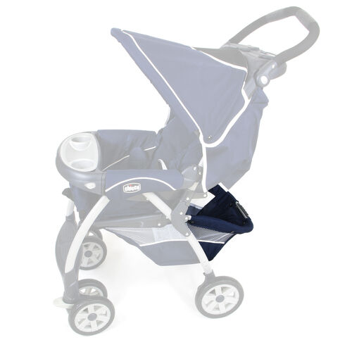 Basket stand location shown on Chicco Cortina Stroller