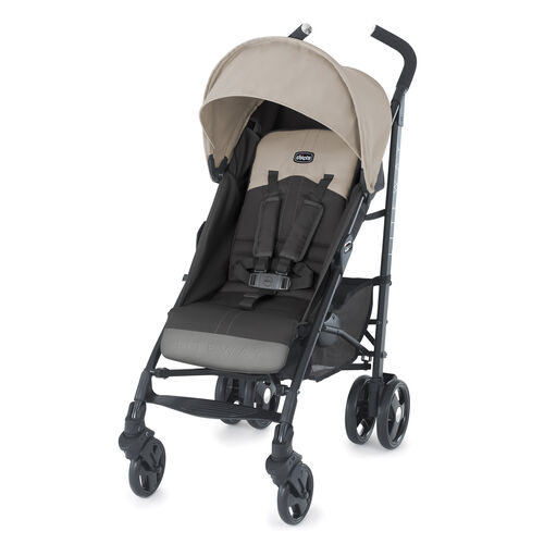 The Chicco liteway stroller is now available in a tan/brown called Almond