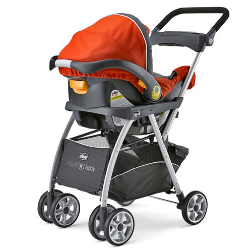 KeyFit Caddy Stroller with Fuego KeyFit 30 Infant Car Seat inserted