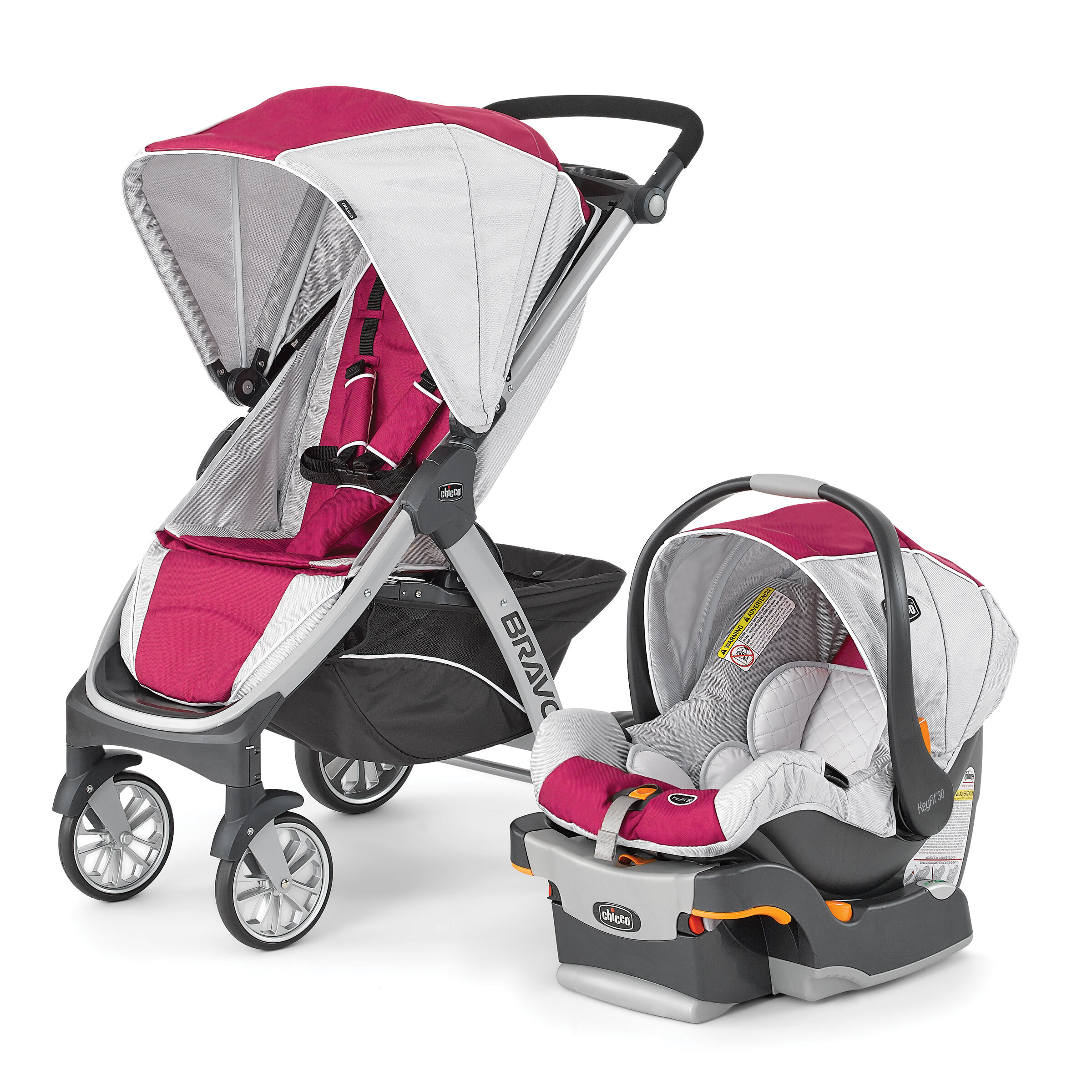 Chicco Bravo Trio Travel System Stroller Orchid