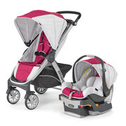 Chicco Bravo Trio System in Pink and Light Gray Orchid Style