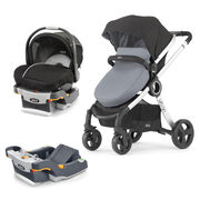 Chicco KeyFit 30 Magic Infant Car Seat and Urban Stroller bundle with Free additional car seat base in Coal gray