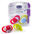 Chicco NaturalFit Deco 12M+ Orthodontic Pacifiers - Gender Neutral Red and Yellow (2 pack)