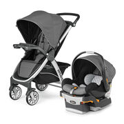 Orion is a deep black color on the Bravo Travel System by Chicco
