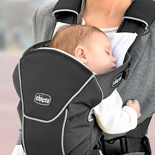 A snap-on bib protects your clothes from drool and spit-up