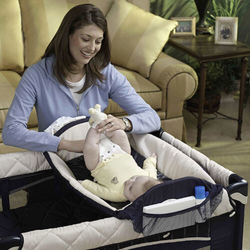 Detachable baby changing table for the Lullaby LX Playard