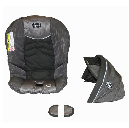 Chicco KeyFit 30 replacement seat cover, canopy, and shoulder pads for harness - Cubes