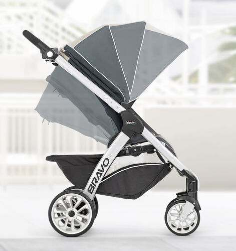 Position the canopy on your Bravo stroller for full coverage