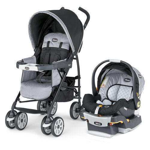 Chicco Nuevo Travel System in black and gray Techna style