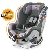 Chicco NextFit Zip Convertible Car Seat grey and light purple with subtle chevron pattern fabric detail - Lavender fashion