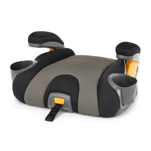 KidFit Booster Car Seat has a removable backrest for easy conversion to a backless booster