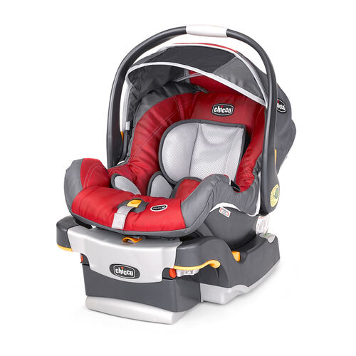 Chicco KeyFit 30 Infant Car Seat and Base in bright red Snapdragon color