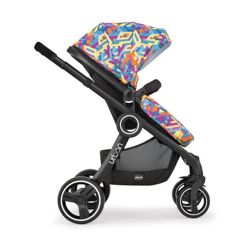 The Urban stroller with it's 6 different modes transform into a forward-facing toddler stroller