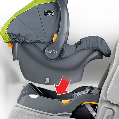 The Cortina CX travel system includes the KeyFit 30 infant car seat and base