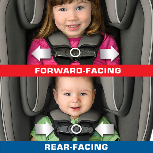 2-position chest clip fits infants and toddlers riding in the NextFit Convertible Car Seat