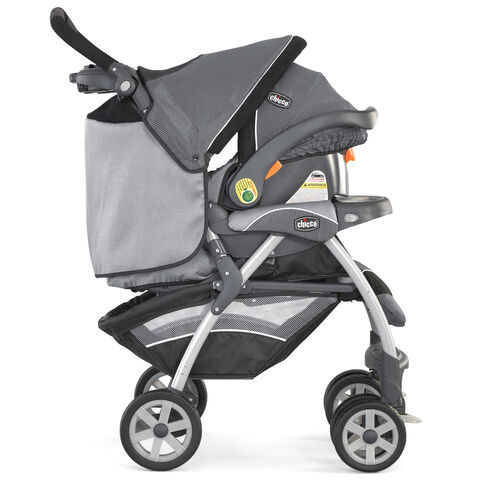 Chicco Cortina Travel System stroller and KeyFit 30 Infant Car Seat combined