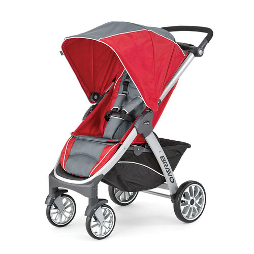 Chicco Bravo Trio Stroller in gray and red - Pulse